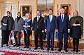 Defense ministers of Australia, France, Germany, Italy, the Netherlands, UK, US following a meeting co-hosted by France, US in Paris on counter-ISIL cooperation 160120-D-LN567-146.jpg