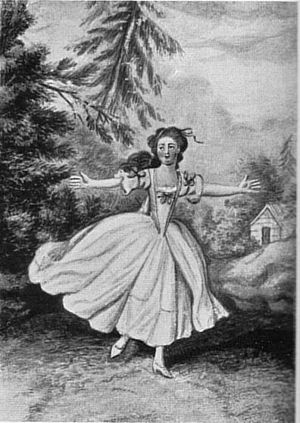 Erwin und Elmire - Demoiselle Huber as Elmire, drawing by Chodowiecki