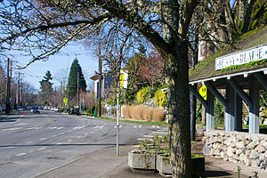 Denny-Blaine, Seattle - A view of Madrona Place and East Denny Way in the Denny-Blaine neighborhood
