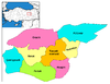 Districts of Tunceli Tunceli districts.png