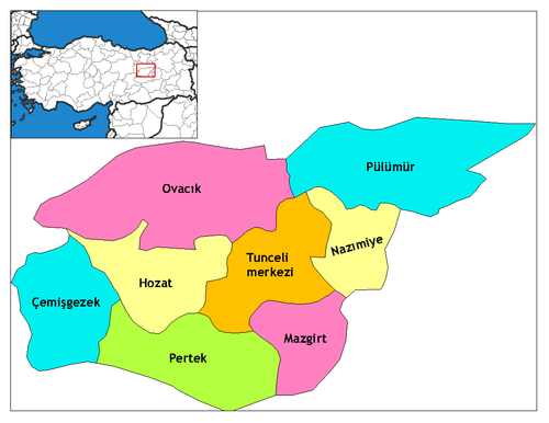 Tunceli'nin ilçeleri