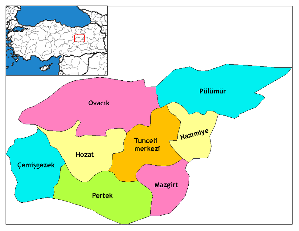 Dersim districts