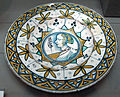 Deruta, piatto con profilo femminile, 1500-1520 ca..JPG