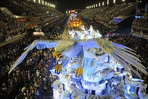 Float (parade) - A float at Rio Carnival, 2014
