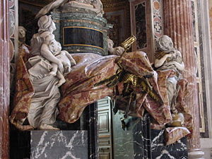 Tomb of Pope Alexander VII - Image: Detail of the Tomb of Alexander VII