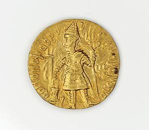 Vasudeva II - Dinar of Vasudeva II.