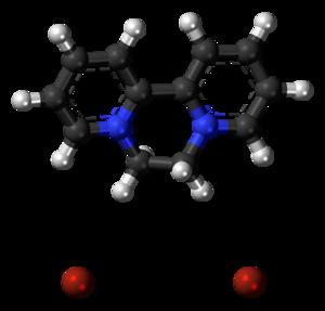 Diquat - Image: Diquat dibromide 3D ball