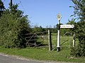 Direction sign at the Leygreen Farm junction of the Beaulieu Road, New Forest - geograph.org.uk - 44608.jpg