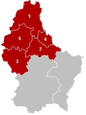 Diekirch District - Image: District Diekirch Locatie