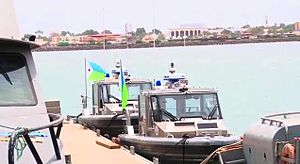Djibouti Armed Forces - Djiboutian Navy at naval base in Djibouti City.