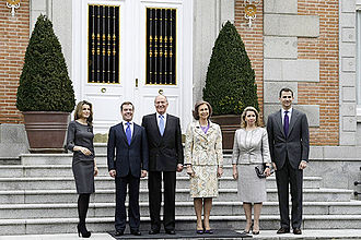 Palace of Zarzuela - Image: Dmitry Medvedev in Spain 2 March 2009 5