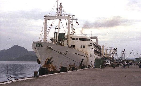 Doña Paz berthed at Tacloban City in 1984. - MV Doña Paz