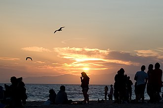 Dockweiler State Beach - Sunset on Dockweiler State Beach