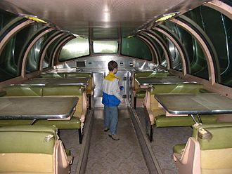 The inside of a DOME CAR