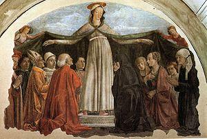 The Virgin of the Navigators - Image: Domenico ghirlandaio, madonna della misericordia, ognissanti, Firenze