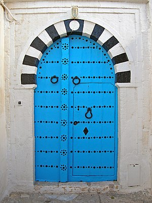 English: Door in Sidi Bou Said village, Tunisi...