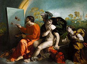 Dosso Dossi - Jupiter, Mercury and Virtue, c. 3rd decade of the 16th century, Lanckoroński Collection, Wawel Castle