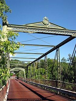 Double-Span Metal Pratt Truss Bridge, Keeseville, NY.jpg