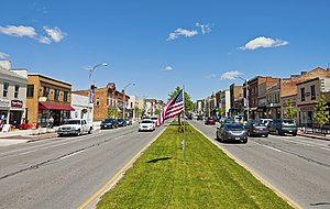 Canandaigua (city), New York - View north along Main Street, 2014