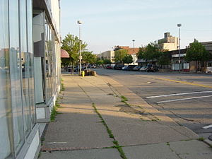Pontiac, Michigan - Downtown Pontiac in 2004