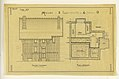 Drawing, Rendering of Facade and Plan for the Basement of a Two Family Mass-operational House (Type No.7), 1921 (CH 18385025).jpg