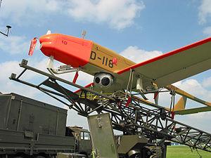 Drohnenstaffel 7 -  UAV ADS 95  D-118 for demonstration purposes on the start-catapult.