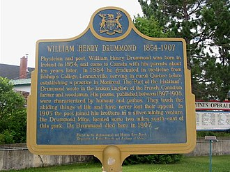 William Henry Drummond - Image: Drummond plaque cobalt