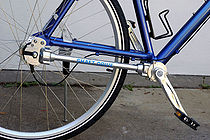 A shaft-driven bicycle.