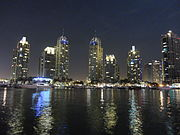 Dubai marina in night.JPG