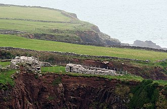 Promontory fort - Dunbeg Fort, a promontory fort below Mount Eagle, Dingle Peninsula, County Kerry, Ireland