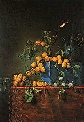 Nature morte aux prunes et aux abricots