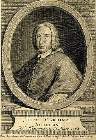 Giulio Alberoni - Engraving of Cardinal Alberoni