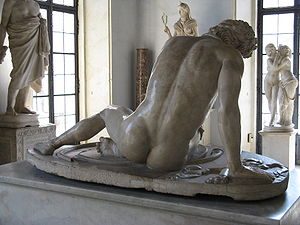 Dying Gaul - Back of the sculpture.