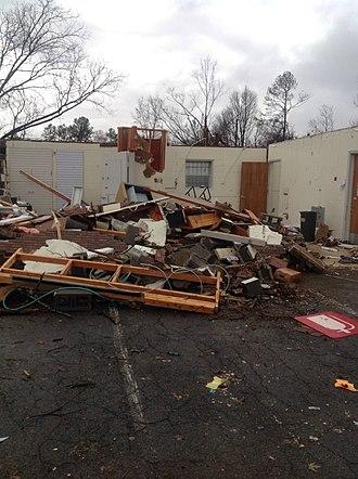 Tornado outbreak of November 27–30, 2016 - EF3 damage to a post office building in Ocoee, TN.