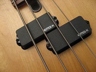 EMG, Inc. - EMG P-X -pickups on a bass guitar.