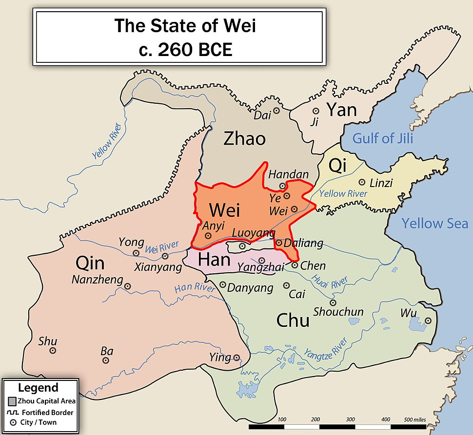 Location of Wei