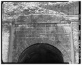 ENTRANCE ENTABLATURE OVER SOUTH PORTAL. - Board Tree Tunnel, Littleton, Wetzel County, WV HAER WVA,26-LIT.V,1-7.tif