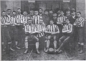 History of Celtic F.C. (1887–1994) - A team photo from the early days of the club, before the adoption of the now-famous hooped jerseys.