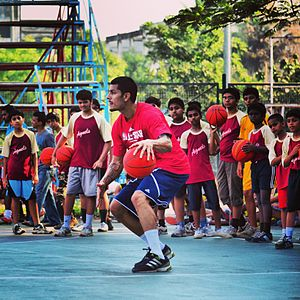 Eban Hyams - Eban Hyams, an Indian-Israeli-Australian professional basketball player, has served as an Indian basketball outreach officer for the NBA from early 2012, including the administration of the Mahindra NBA Challenge.