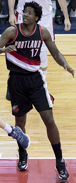 Ed Davis (basketball) - Davis during his tenure with the Portland Trail Blazers