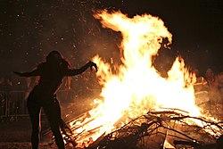 Edinburgh Beltane Fire Festival 2012 - Bonfire.JPG
