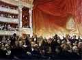Edouard Dantan Un Entracte à la Comédie-Française un soir de première, en 1885.jpg