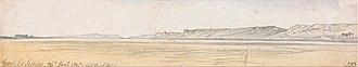 Gebel el-Silsila - Image: Edward Lear Gebel Es Silsilis Google Art Project (2317343)