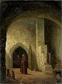 Een monnik met een glas in de hand in een kelder Rijksmuseum Amsterdam SK-A-3499.jpg