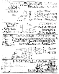 A portion of the Rhind Papyrus