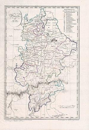 Mainkreis (Bavaria) - Districts of Bavaria, including Tyrol, in 1808