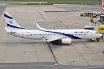 El Al, 4X-EKF, Boeing 737-8HX (23033851872).jpg