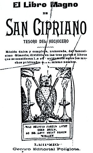 Book of Saint Cyprian - The title page of a Spanish edition