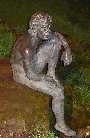 Fish-man - Fish-man statue in Liérganes, Cantabria.