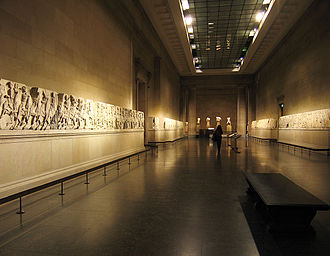 1810s -  Elgin Marbles displayed.